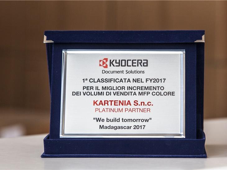 Kyocera premia l'innovazione di Kartenia